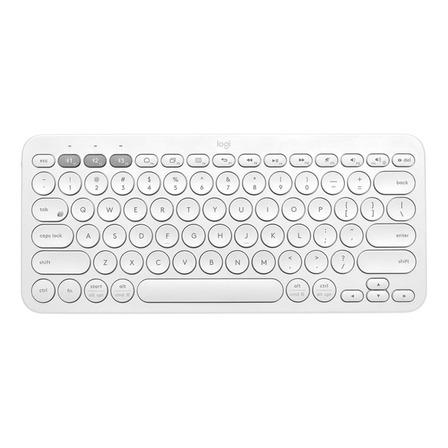 Teclado bluetooth Logitech K380 QWERTY español color blanco