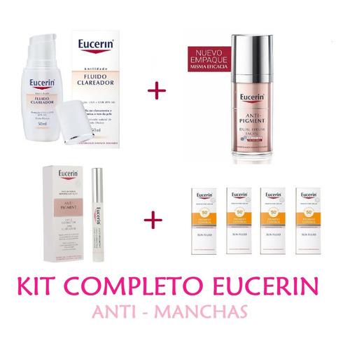 Eucerin Kit Anti-manchas Dual Serum-clareador-lapiz-muestrs