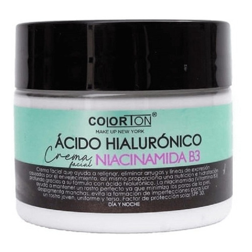 Crema Acido Hialuronico Con Niacinamida B3 Colorton Manchas
