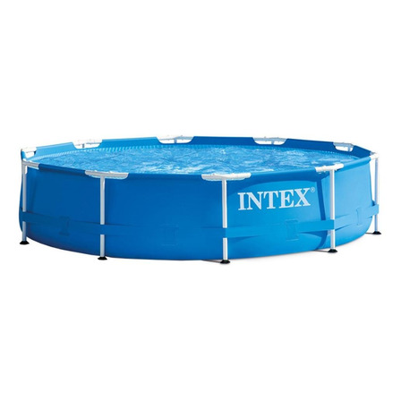 Alberca estructural redonda Intex 28201 con capacidad de 4485 litros de 305cm de diámetro  azul