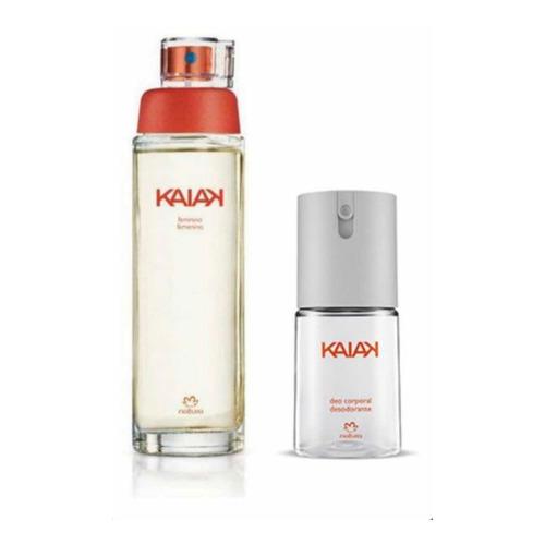 Perfume + Spray Corporal Kaiak Clasico Femenino Natura 100ml
