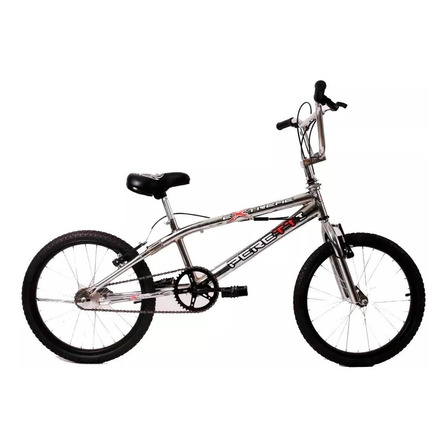 Bicicleta freestyle masculina Peretti Extreme III R20 1v frenos v-brakes color plateado