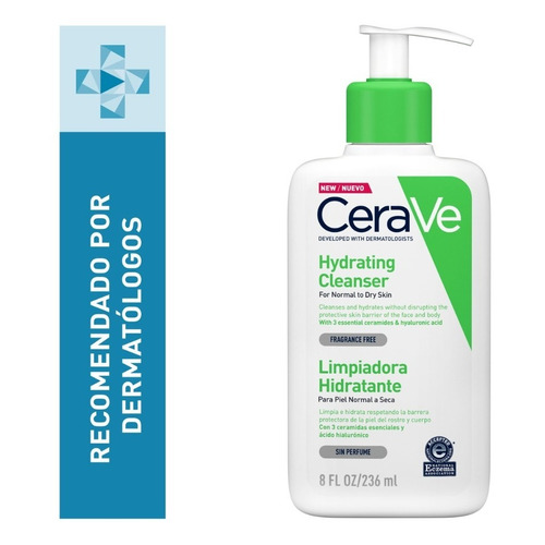 Limpiadora Hidratante Facial Cerave Piel Mixta A Seca 237ml