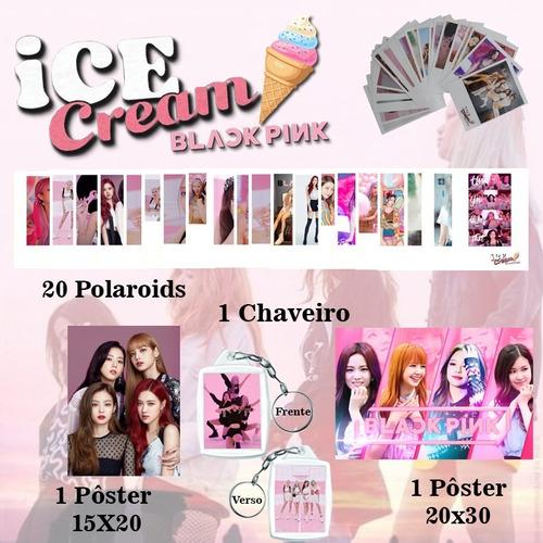 Kit Black Pink  Com 2 Poster + 1 Chaveiro + 20 Polaroids