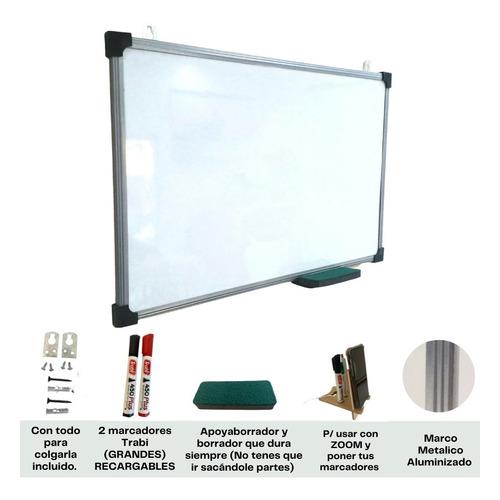 Pizarra Blanca 60x80cm + Todos Los Accesorios Gratis