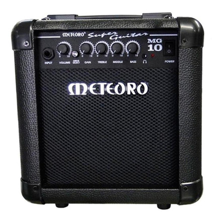 Amplificador Meteoro Super Guitar MG 10 Transistor para guitarra de 10W color negro 110V/220V