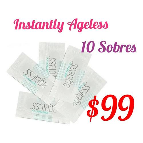 10 Sobres Instantly Ageless , Crema Efecto Botox, Antiarruga