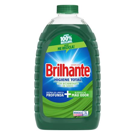 Sabão líquido Brilhante Higiene Total Roupas Brancas e Coloridas galão 3L