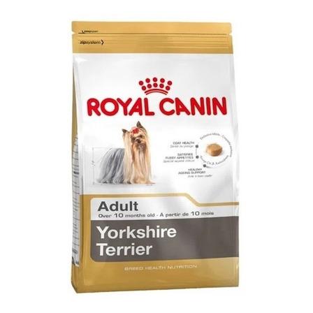 Alimento Royal Canin Breed Health Nutrition Yorkshire Terrier para perro adulto de raza pequeña sabor mix en bolsa de 4.5kg