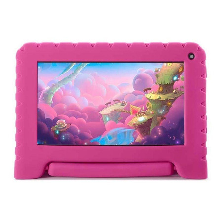 """Tablet com capa Mirage 45T Kids 7"""" 16GB rosa com memória RAM 1GB"""