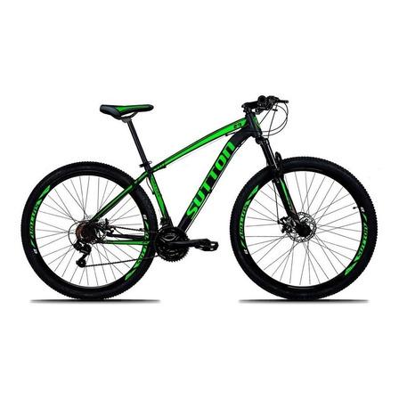 """Mountain bike Sutton New aro 29 19"""" 24v freios de disco hidráulico câmbios Shimano y Shimano Altus cor preto/verde"""