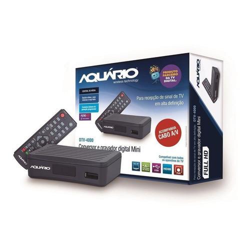 Conversor E Gravador Digital Dtv-4000s Preto Aquário