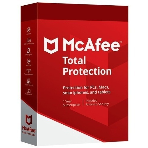 Mcafee Total Protection Antivirus 1 Año, 1 Pc