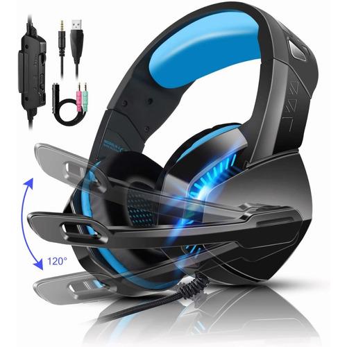 Audifonos Gamer Con Micrófono Con Luz Led Para Ps4/pc/xbox