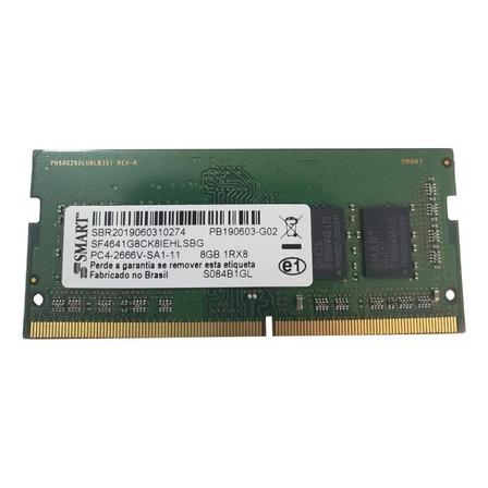 Memória RAM 8GB 1x8GB Smart SF4641G8CK8IEHLSBG