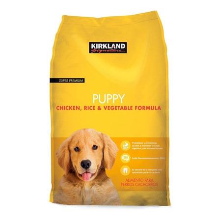 Alimento Kirkland Signature Super Premium Puppy para perro cachorro todos los tamaños sabor pollo/arroz/vegetales en bolsa de 9kg