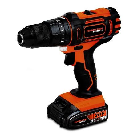 Taladro eléctrico  destornillador Hamilton ULT110 inalámbrico 1650rpm negro/naranja 20V 20V