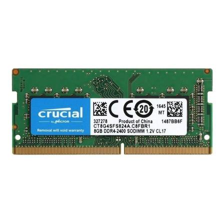 Memória RAM color Verde  8GB 1x8GB Crucial CT8G4SFS824A