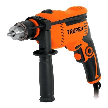Taladro eléctrico percutor y destornillador Truper Profesional ROTO-1/2A7 3100rpm 60Hz 650W naranja 127V
