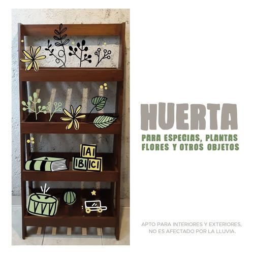 Huerta Vertical De Pino De 4 Estantes, Pintado Y Terminado.