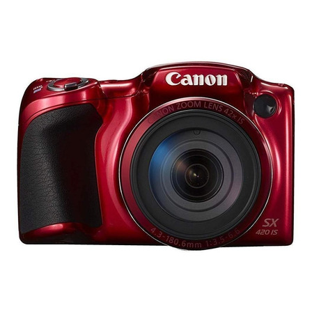 Canon PowerShot SX420 IS compacta avanzada color rojo