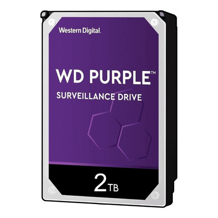 Disco rígido interno Western Digital WD Purple WD20PURZ 2TB roxo