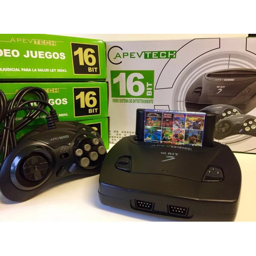 Sega Apevtech 16 Bits Con 109 Juegos Completo