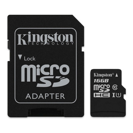 Tarjeta de memoria Kingston SDCS Canvas Select con adaptador SD 16GB