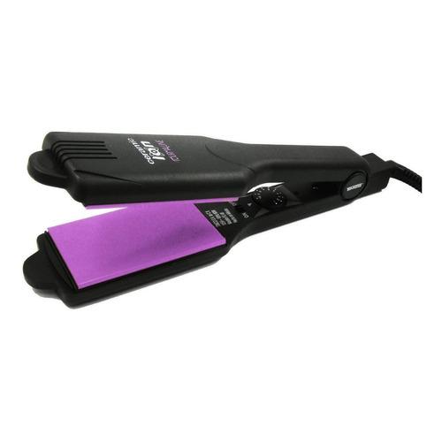 Plancha de cabello Timco Cer + Iones PW-C negra 125V