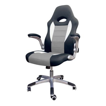 Silla de escritorio Desillas Pro Sonic gamer ergonómica  negra y gris