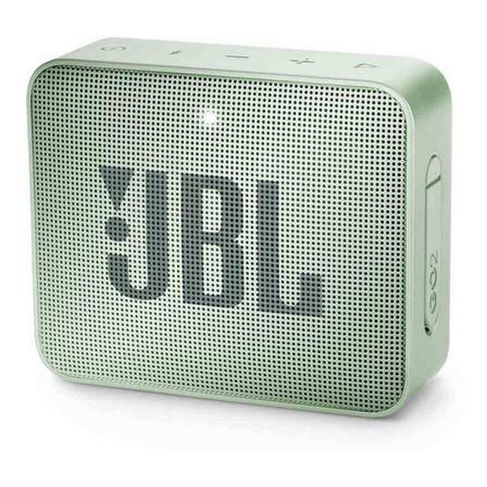 Parlante JBL Go 2 portátil con bluetooth seafoam mint