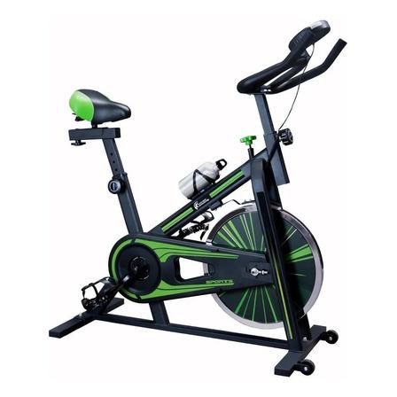 Bicicleta fija Centurfit MKZ-JINYUAN10KG para spinning negra y verde