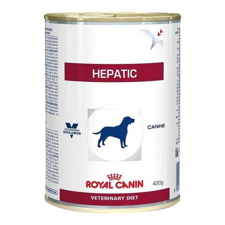 Alimento Royal Canin Veterinary Diet Canine Hepatic para cachorro adulto de raça pequena/média/grande sabor mix em lata de 420g