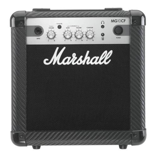 Amplificador Marshall MG Carbon Fibre MG10CF Valvular para guitarra de 10W color negro 220V
