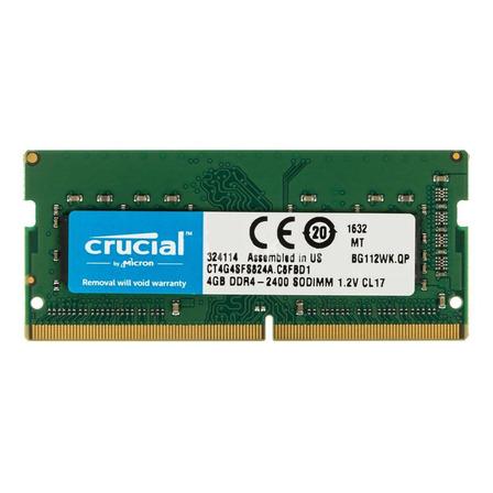 Memória RAM color Verde  4GB 1 Crucial CT4G4SFS824A