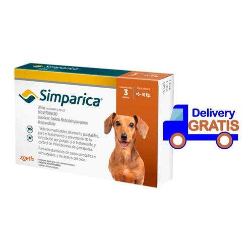 Antipulgas Antigarrapas Simparica 5-10 Kg Caja X3 Original