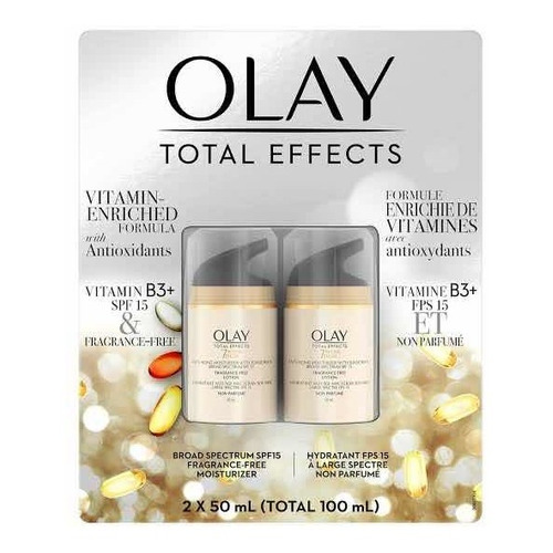 Olay Total Effects Crema Facial Hidratante Con Fps 2 X 50ml