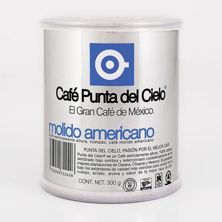 Café molido Punta del Cielo  Americano en lata 300g