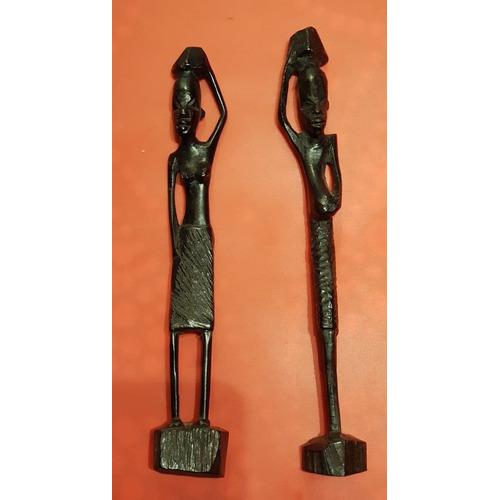 Africanos Artesanía Figuras De Ebano