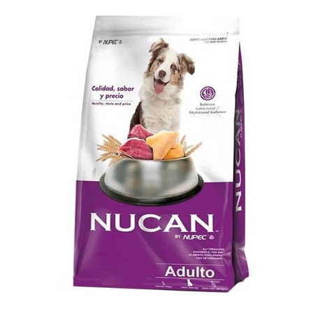 Alimento Nucan para perro adulto sabor mix en bolsa de 25kg