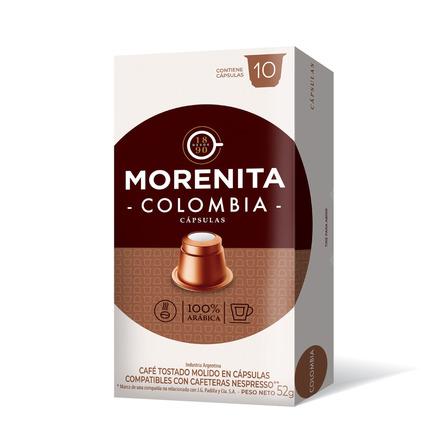 Cápsulas de café colombia La Morenita 10u