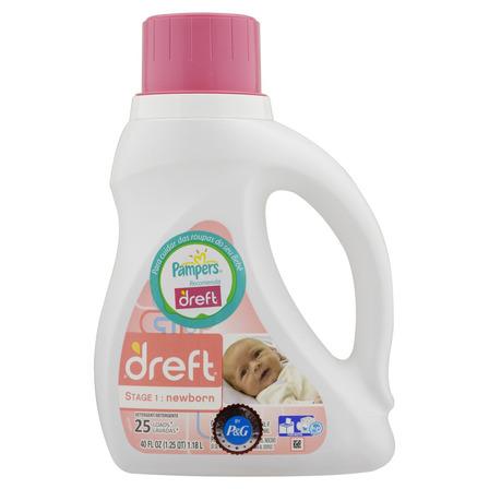 Sabão líquido Dreft Roupas de Recém-Nascido frasco 1.18L