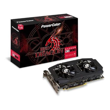 Placa de vídeo AMD PowerColor  Red Dragon Radeon RX 500 Series RX 580 AXRX 580 8GBD5-3DHDV2/OC OC Edition 8GB