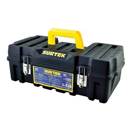 Caja de herramientas Surtek CPSC20 de plástico 27.3cm x 53.3cm x 19cm negra