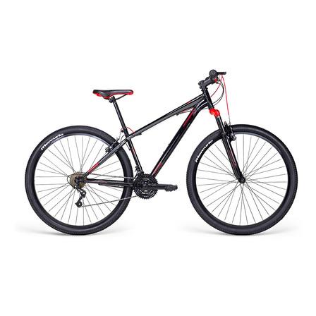 Mountain bike Mercurio Kaizer MTB  2020 R29 21v frenos v-brakes color negro brillante/rojo
