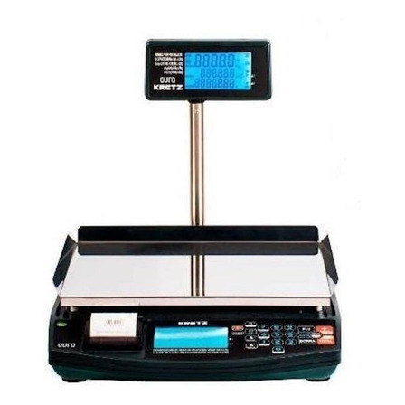 Balanza comercial digital Kretz Aura Eco 30kg con mástil 110V/240V negro