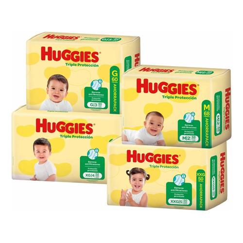 Pañales Huggies Triple Protección  M/ G/ Xg/ Xxg Pack Ahorro