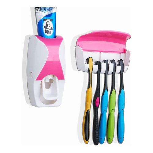 Dispensador Automático Pasta Dental Y Porta Cepillo Everest