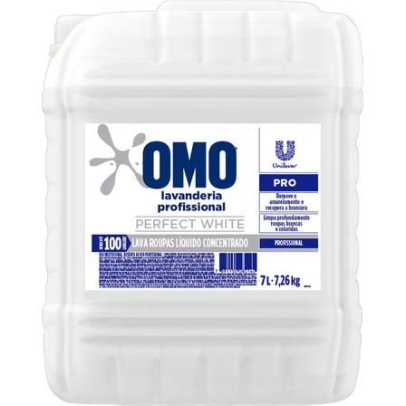 Lava-Roupas Líquido Lavanderia Profissional Omo Perfect White Pro Galão 7l