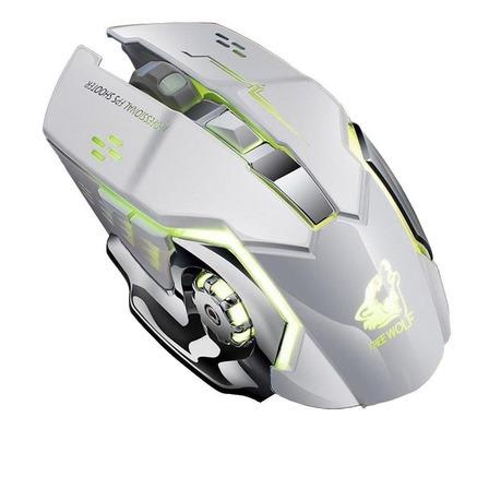 Mouse de juego inalámbrico recargable Free Wolf  X8 white